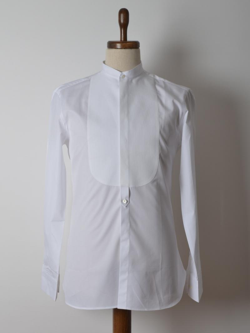 NEIL BARETT PLASTRON STRETCH COTTON POPLIN SHIRT