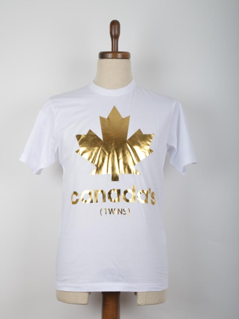 DSQUARED2  T-SHIRT CANADA'S PRINTED COTTON