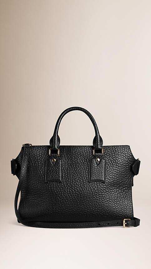 BURBERRY THE MEDIUM CLIFTON IN SIGNATURE GRAIN LEATHER 50cb48a88bf59