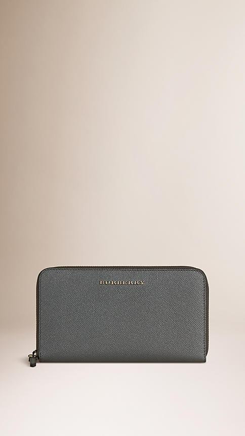 BURBERRY London Leather Ziparound Wallet