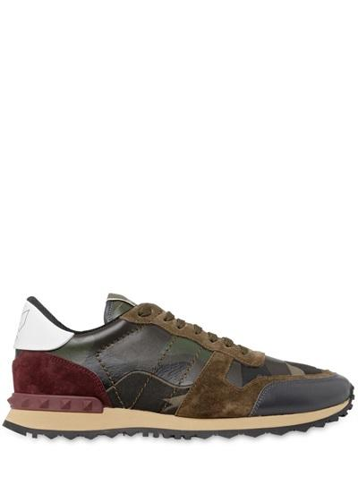 VALENTINO ROCKSTUD CAMOUFLAGE CANVAS & LEATHER