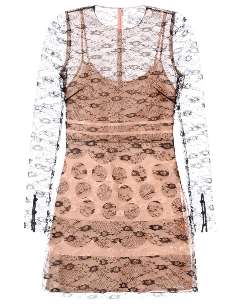 RED VALENTINO Printed lace dress