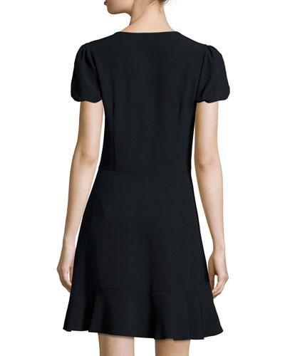 RED VALENTINO Short-Sleeve Fit & Flare Dress
