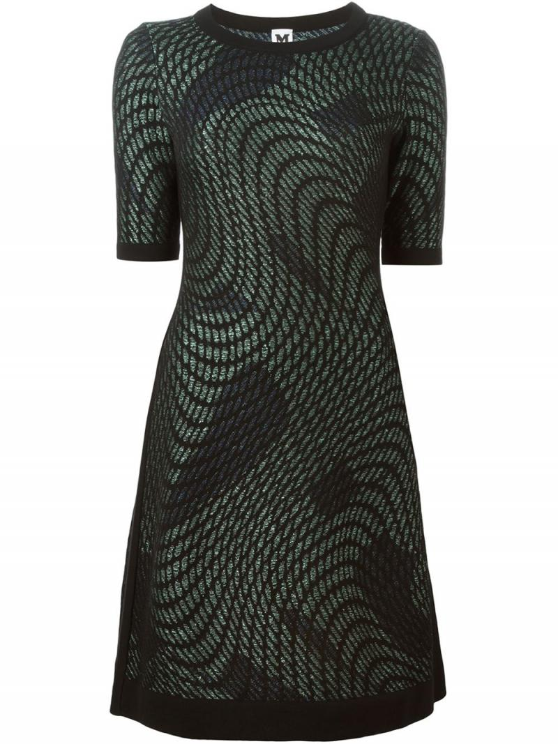 M MISSONI SHORT ABSTRACT LUREX DRESS
