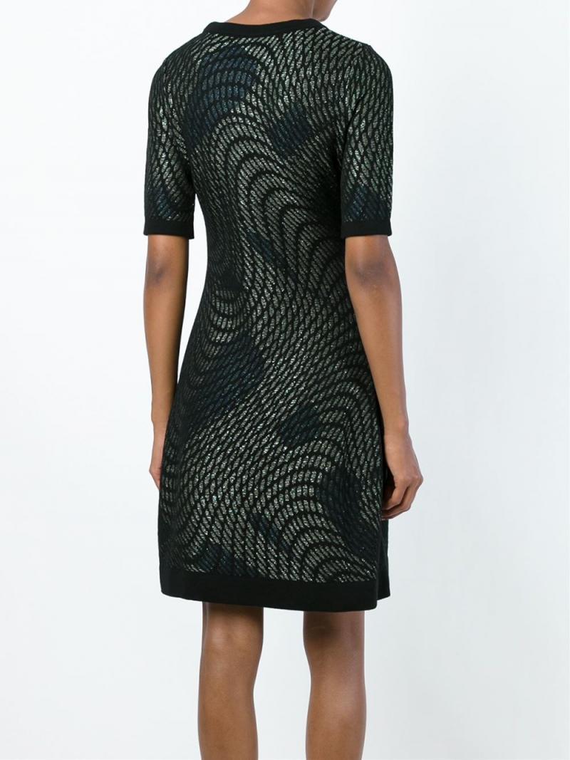 M MISSONI SHORT ABSTRACT LUREX DRESS