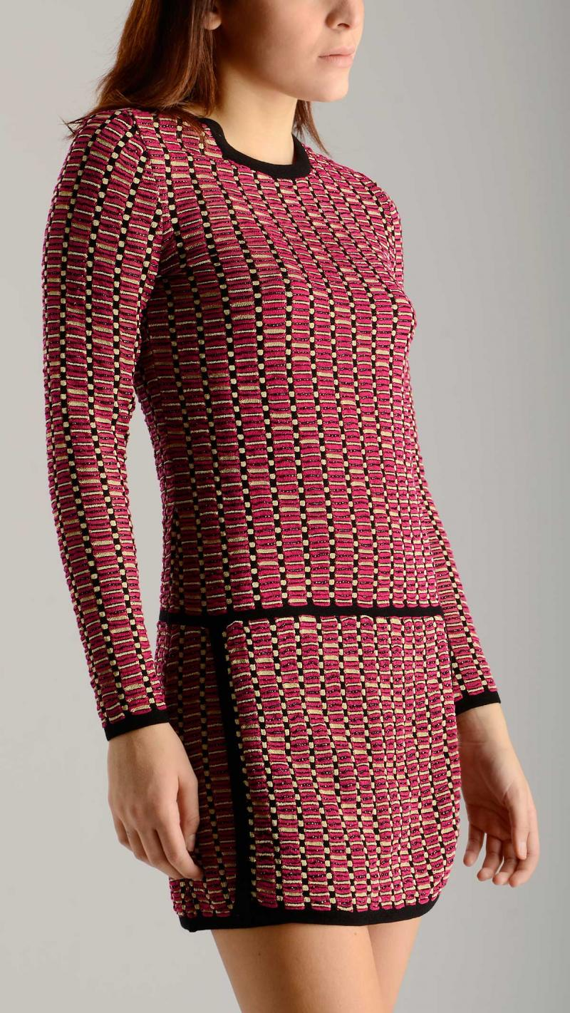 M MISSONI geometric knit dress