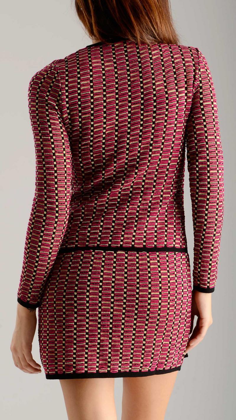 M MISSONI geometric knit dress