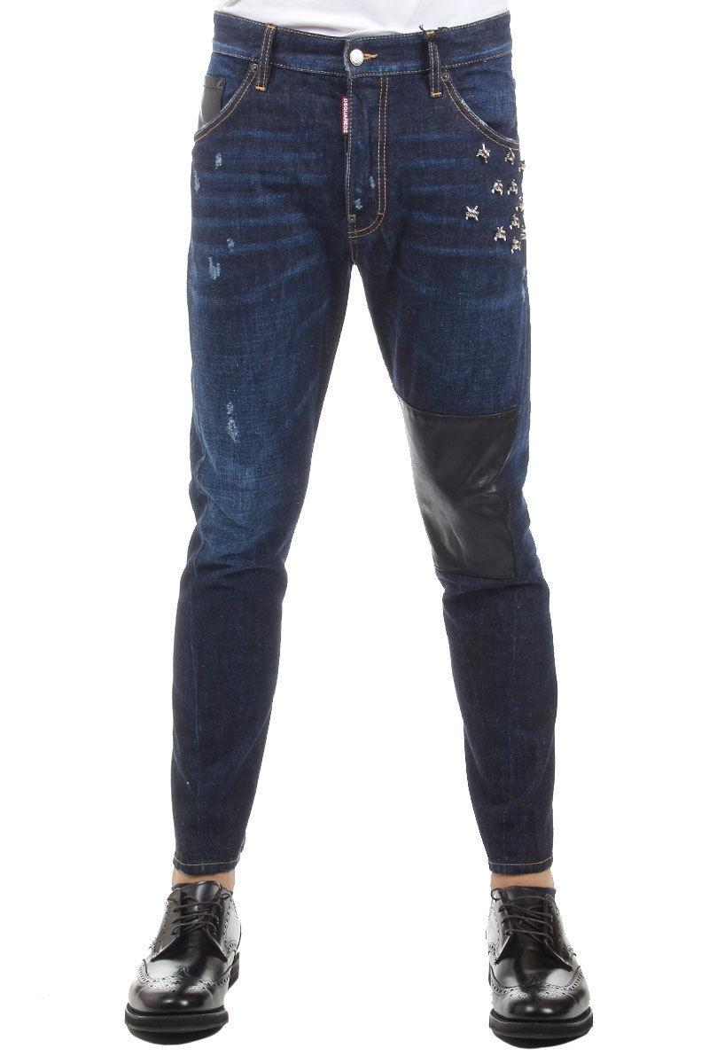 "DSQUARED2  JEANS 17.5CM  Vintage-effect Denim ""CLASSIC KENNY TWIST"" Jeans"