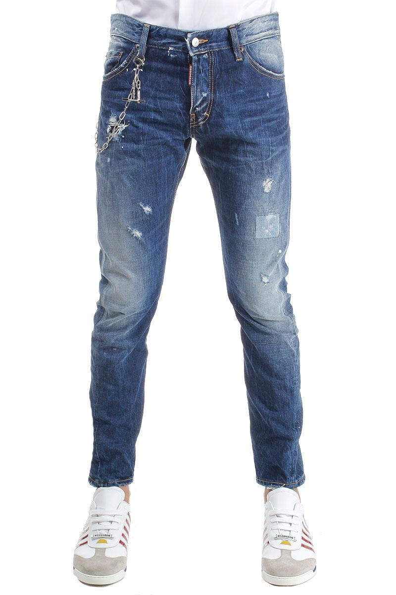 DSQUARED2 16.5CM M. BUBLE  DENIM JEANS