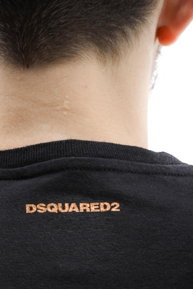 DSQUARED2 T-SHIRT New Loose fit t-shirt with tiki print