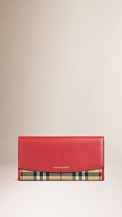 SPRING-SUMMER 2018 BURBERRY Horseferry Check and Leather Continental Wallet