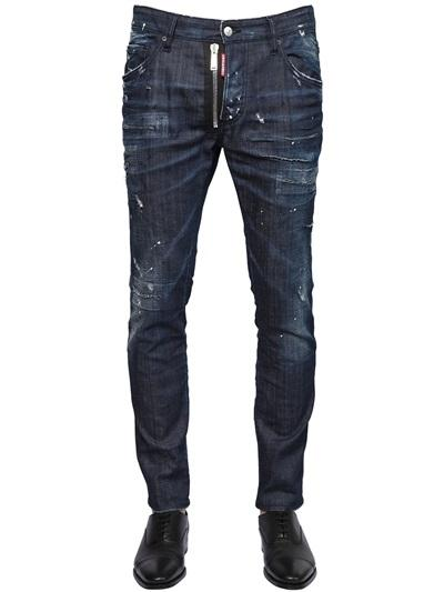 DSQUARED2 JEANS 16CM skater jean  FIT BAFFO STRETCH DENIM