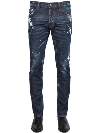 DSQUARED2 JEANS 16.5CM cool guy jean strech denim