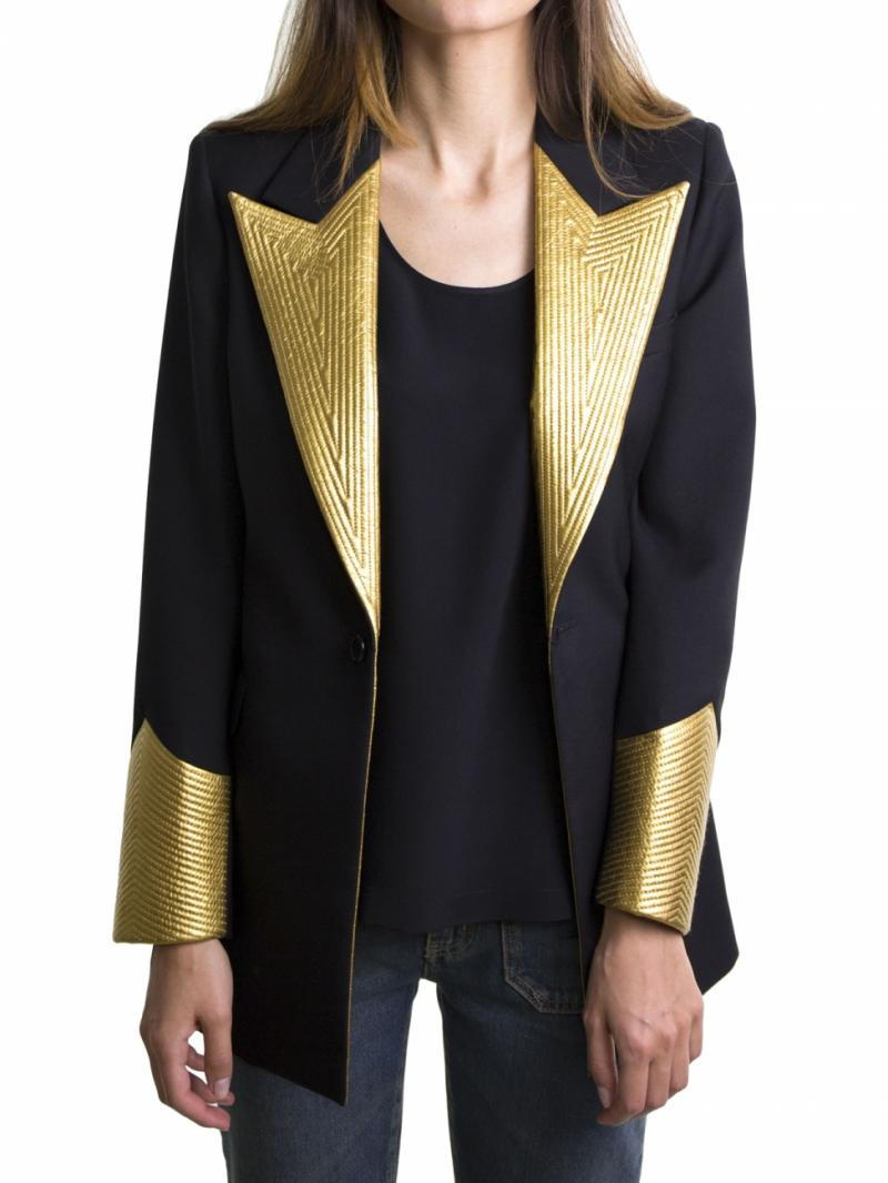Saint Laurent black jacket with gold details