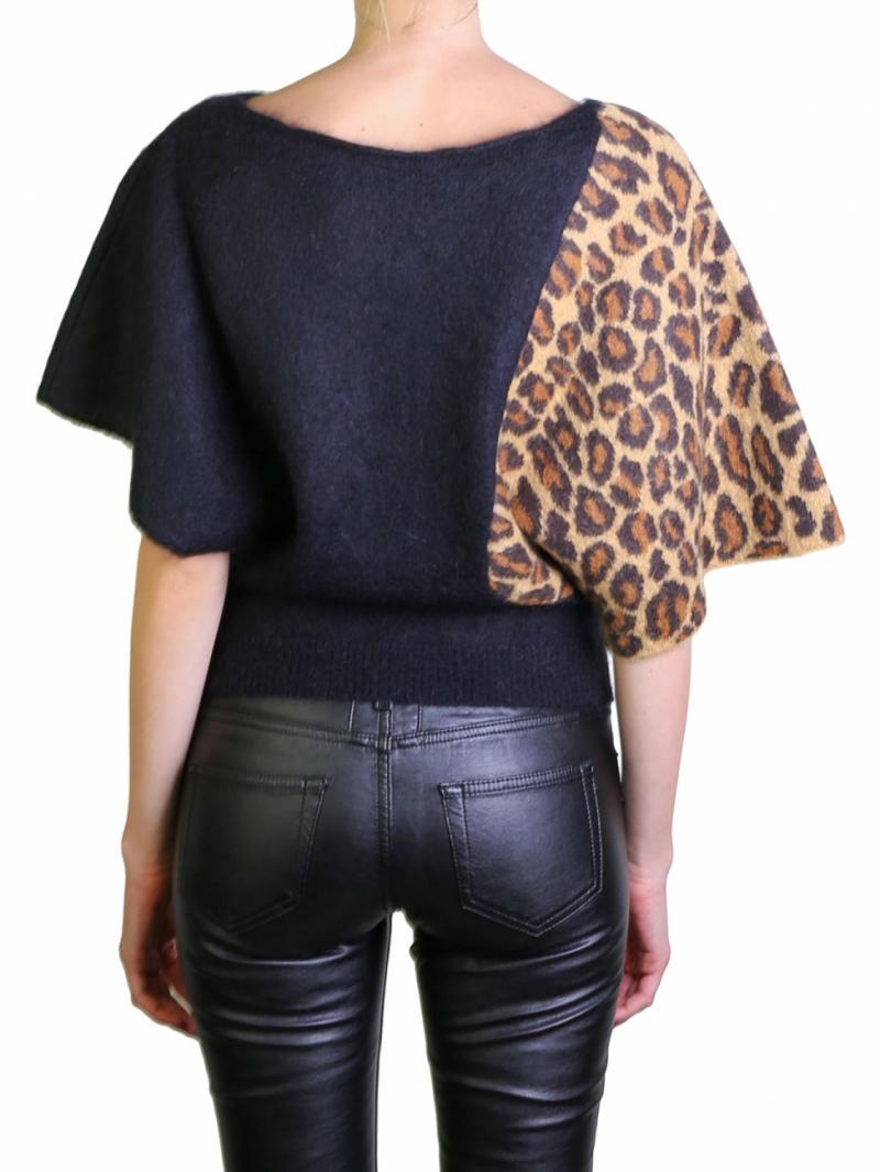 Saint Laurent black and animalier top