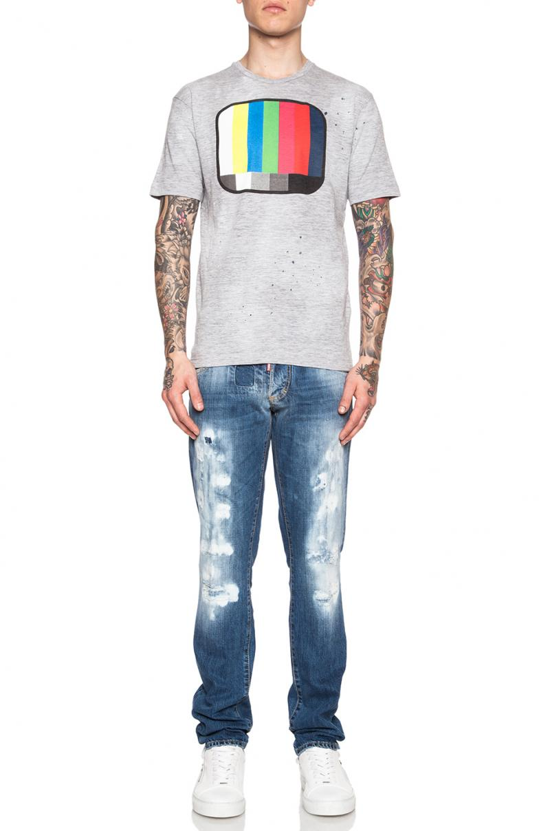 DSQUARED2 JEANS 18CM SLIM JEAN  DENIM JEANS