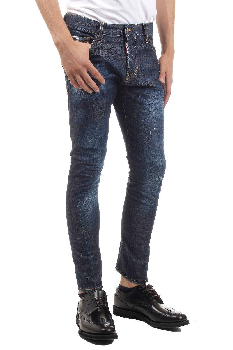 DSQUARED2   16CM SEXY TWIST  DENIM JEANS