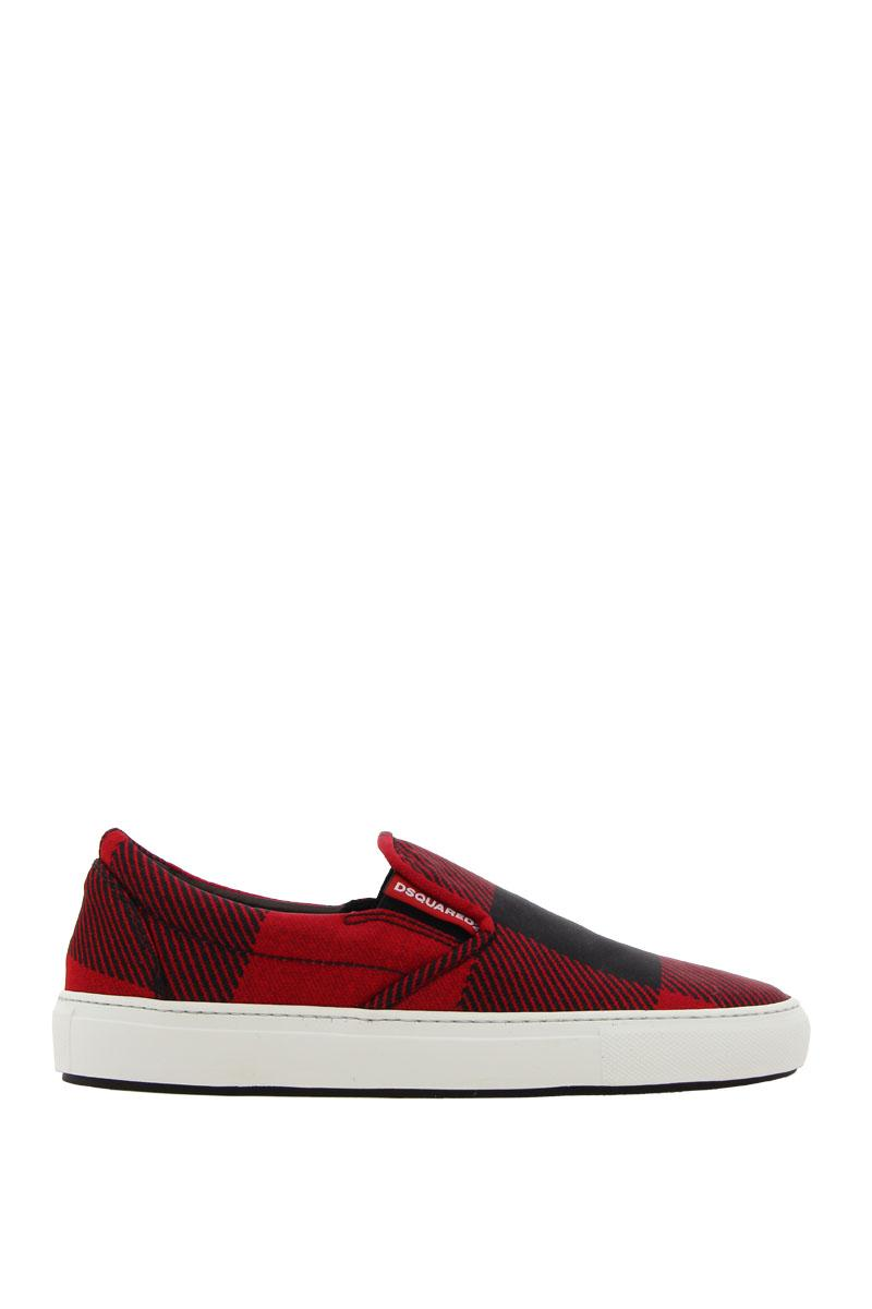 DSQUARED2 SHOES sneakers slip-on in a quadri