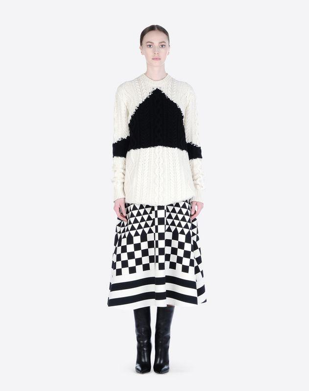 VALENTINO Skirt in printed crepe couture