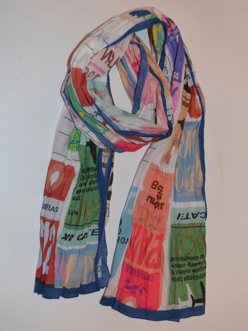 DSQUARED2 flight tag print scarf