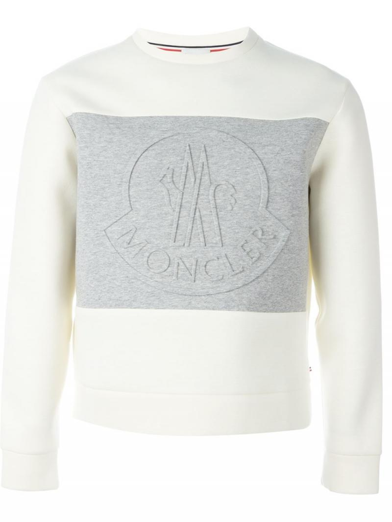 MONCLER raised logo sweatshirt