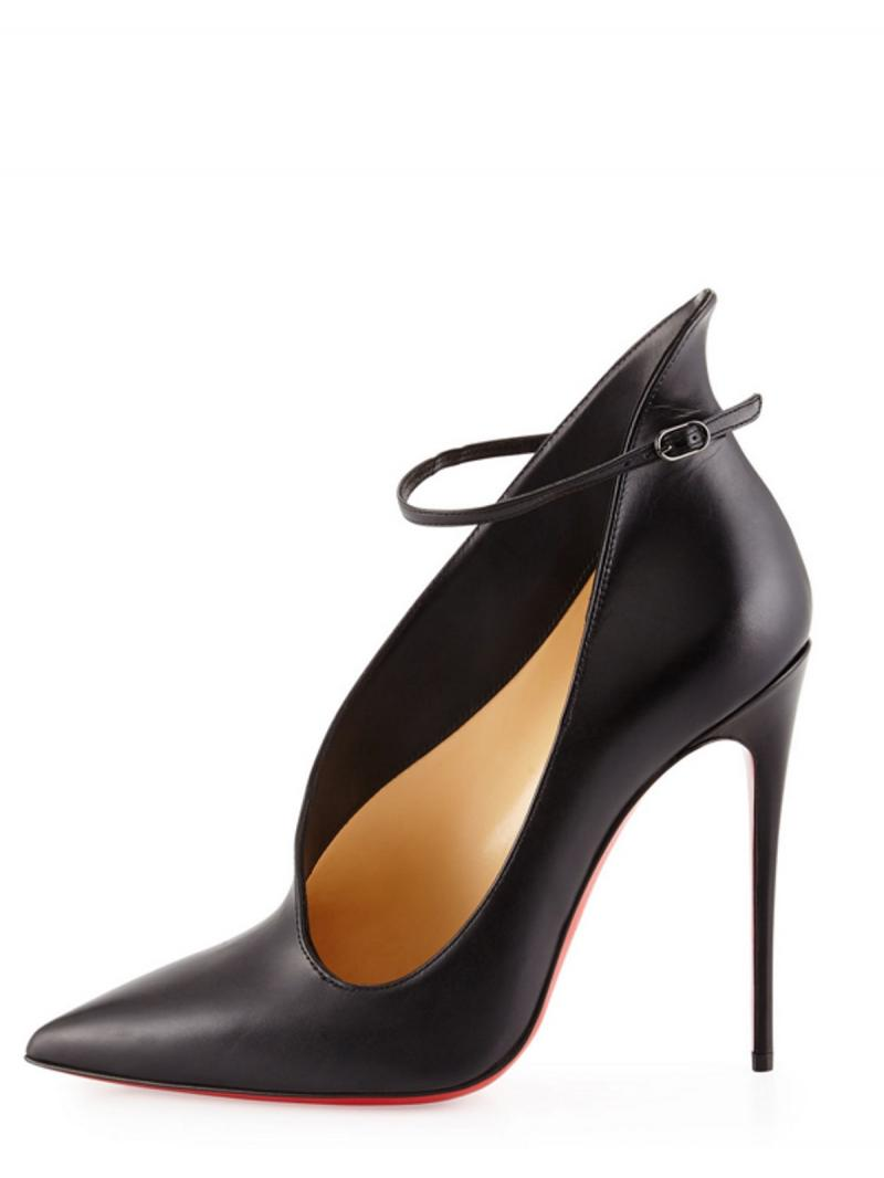 CHRISTIAN LOUBOUTIN VAMPYDOLY 100 SUEDE KID