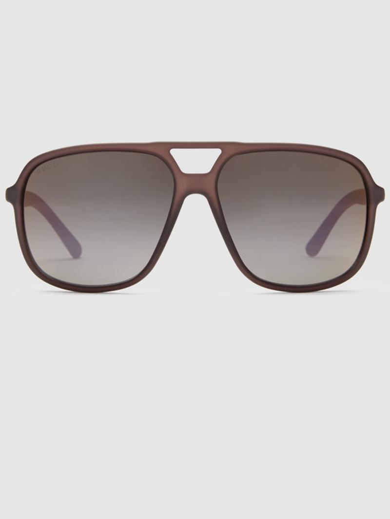 GUCCI Injected aviator sunglasses
