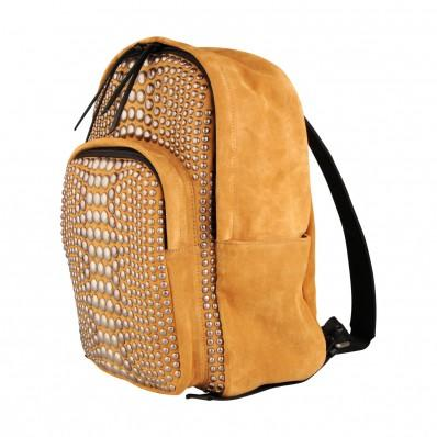 GIUSEPPE ZANOTTI studded suede backpack