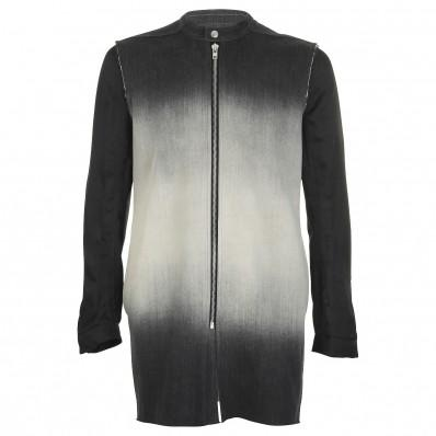 RICK OWENS cyclops runway degradé denim belted jacket