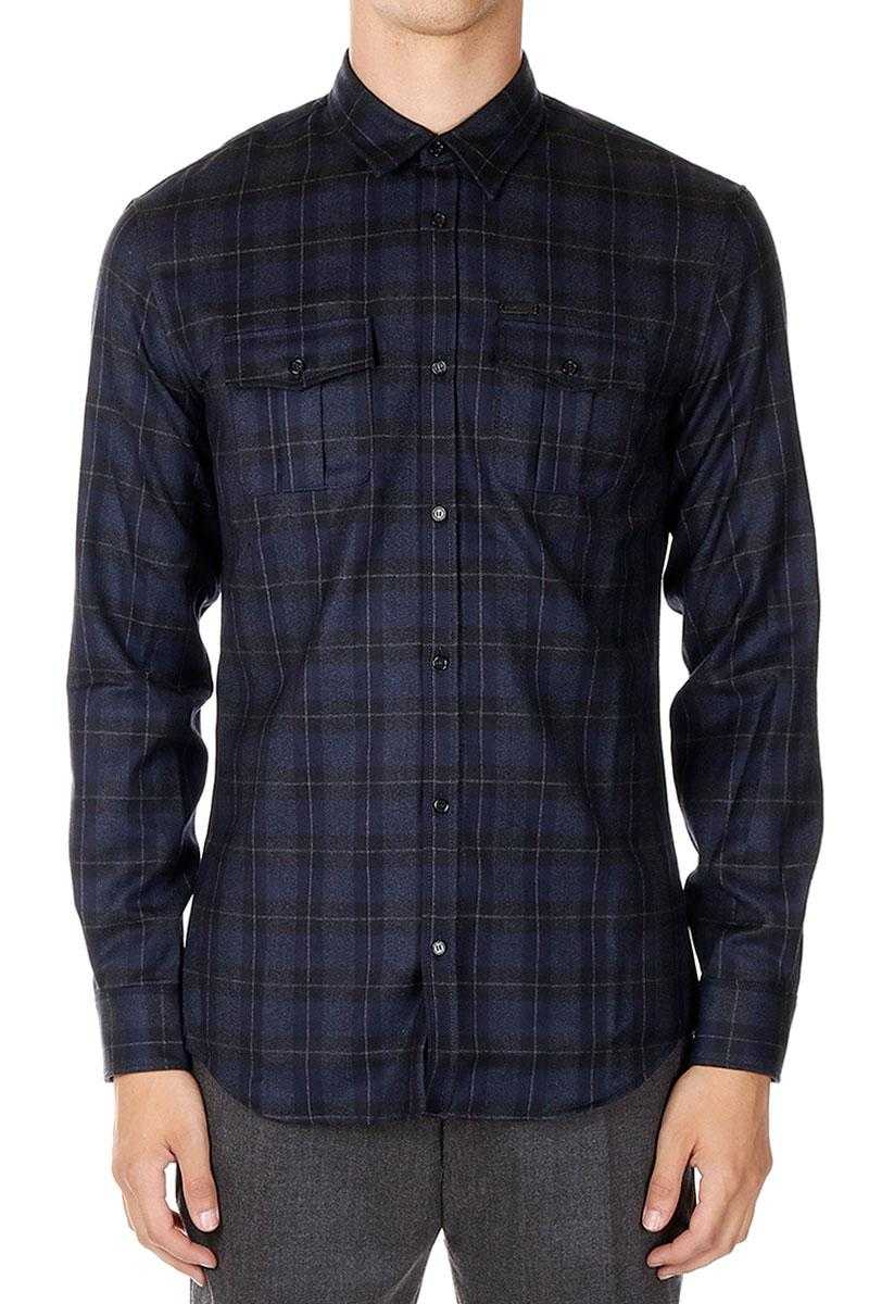 DSQUARED2  Virgir Wool Checked Shirt