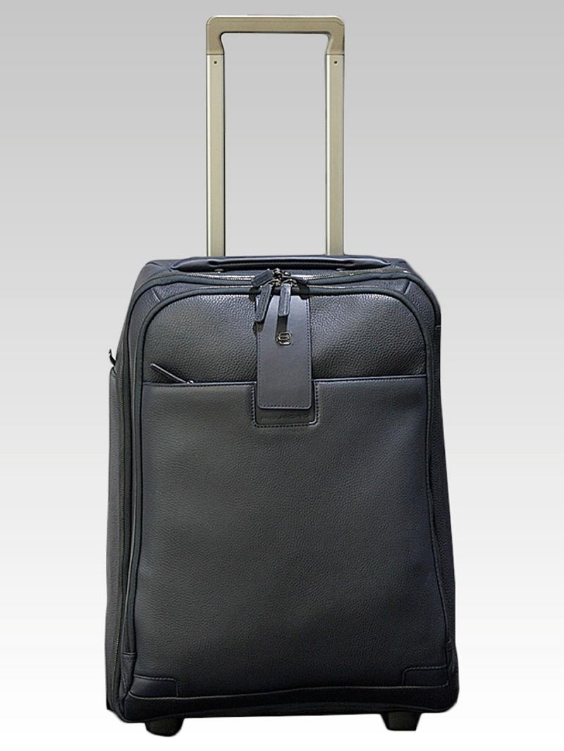PIQUADRO Cabin trolley with double notebook and iPad / iPad Air compartment and garment bag Blue Square