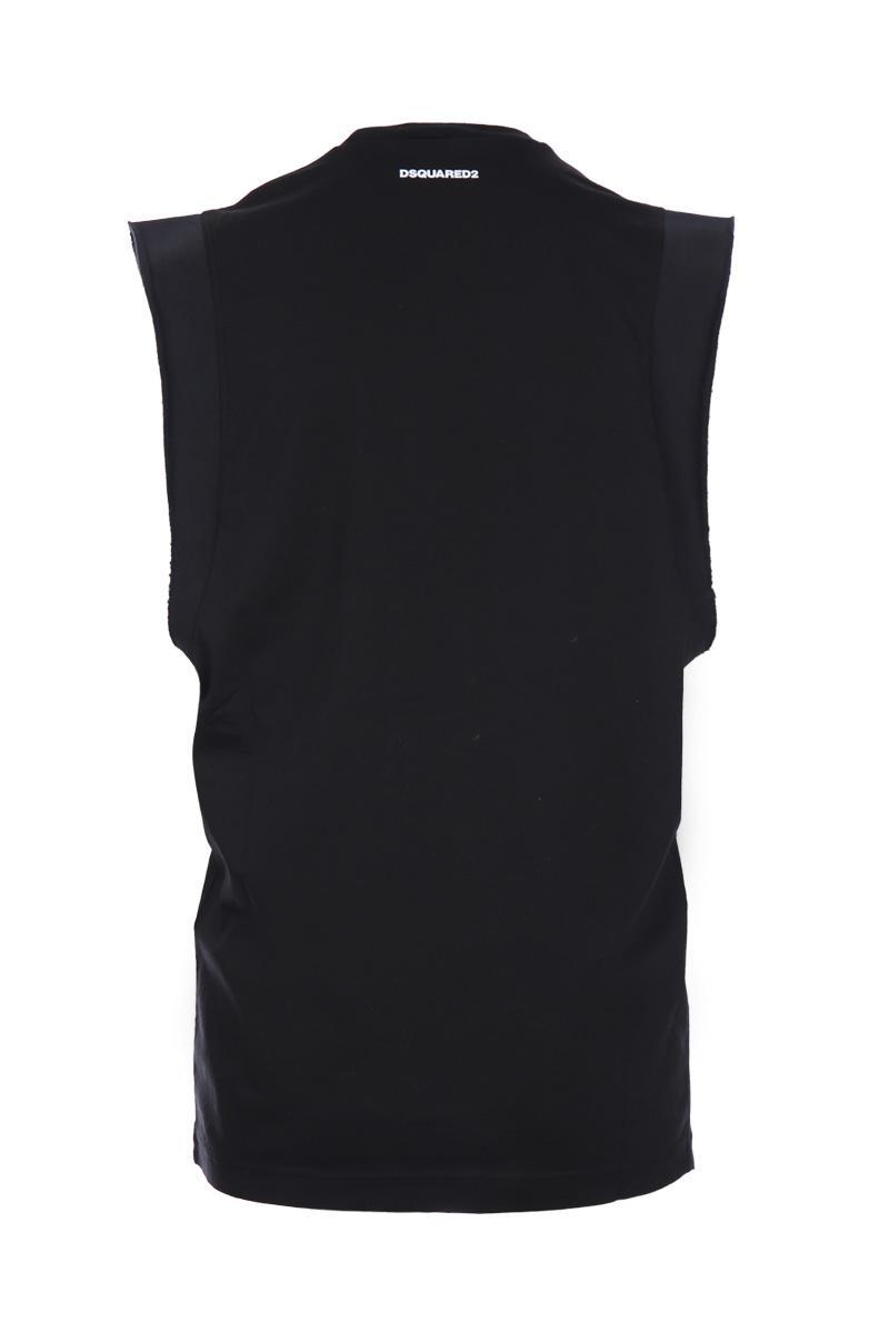 DSQUARED2 panther print sleeveless t-shirt