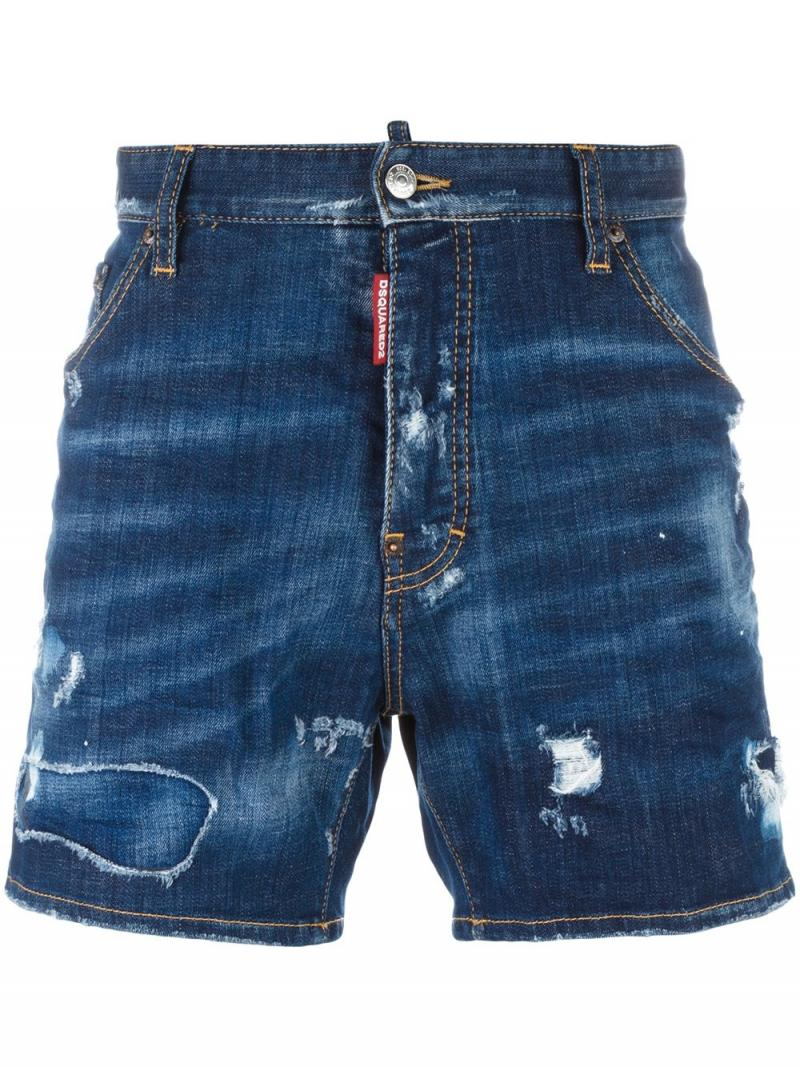 DSQUARED2 Dan Commando lightly distressed shorts