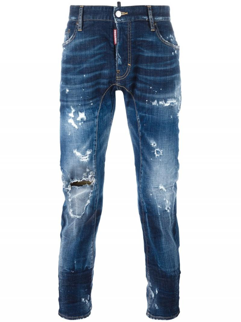 DSQUARED2 Tidy Biker bleached knee jeans