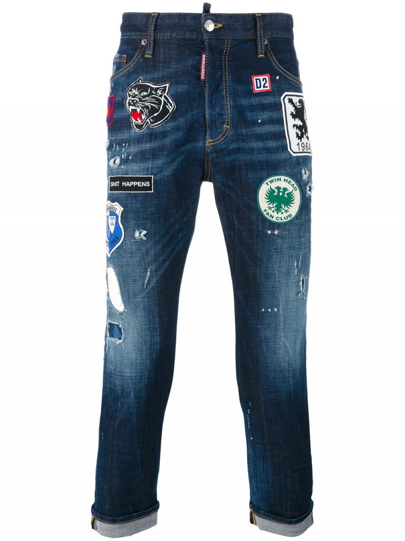 DSQUARED2 embellished jeans  glam head jean