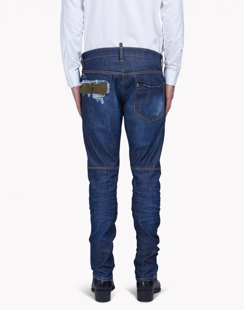 DSQUARED2 DENIM TIDY BIKER JEANS