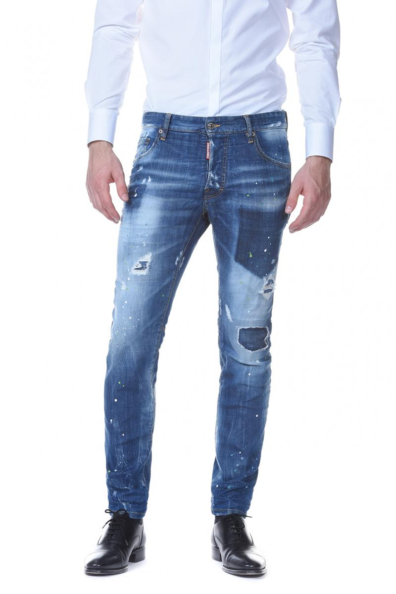 DSQUARED2 DENIM 17CM CITY BIKER JEAN