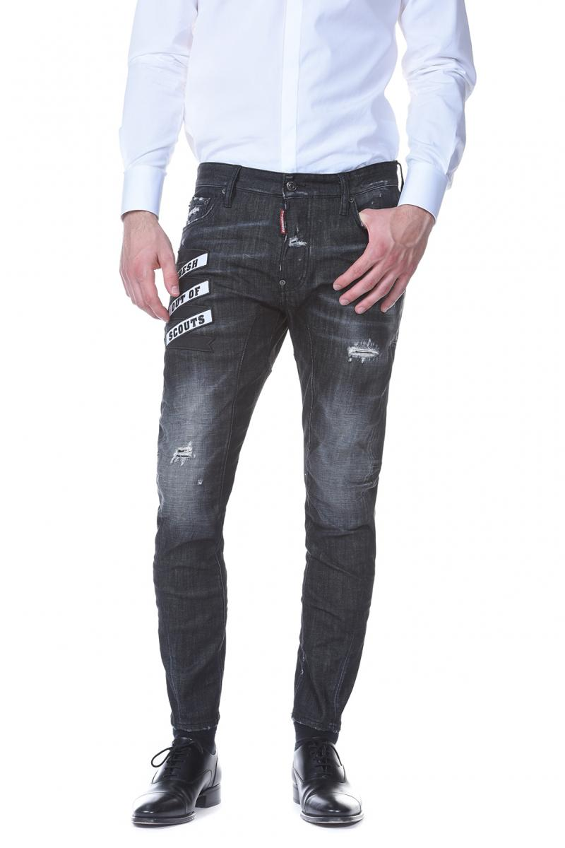 DSQUARED2 DENIM 17CM TIDY BIKER JEAN