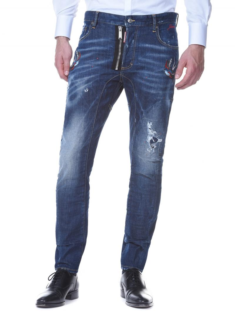 DSQUARED2 DENIM TIDY BIKER JEAN COTTON JEANS