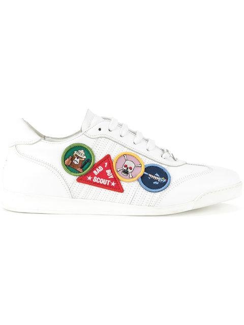 DSQUARED2 SNEAKERS patch detailed sneakers