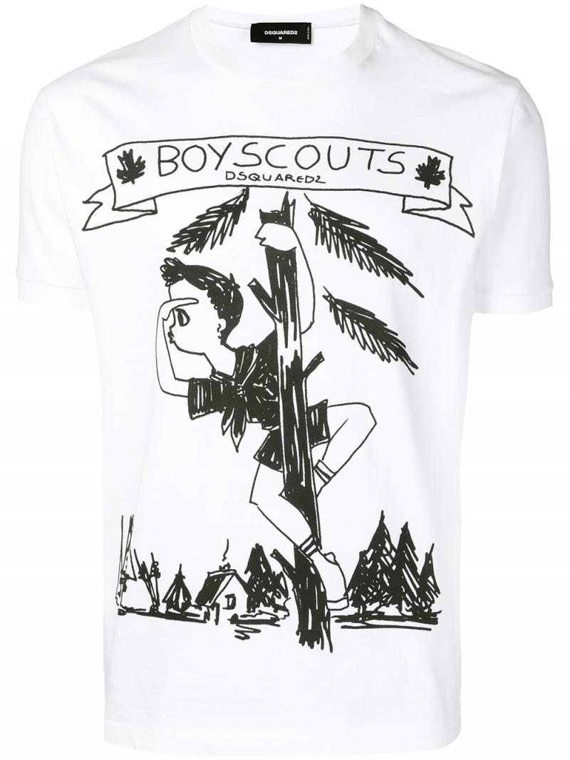 DSQUARED2 Boy Scout print