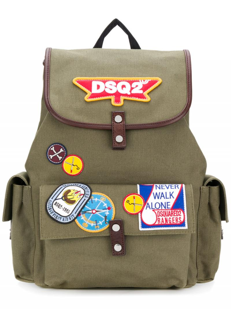 DSQUARED2 patch backpack