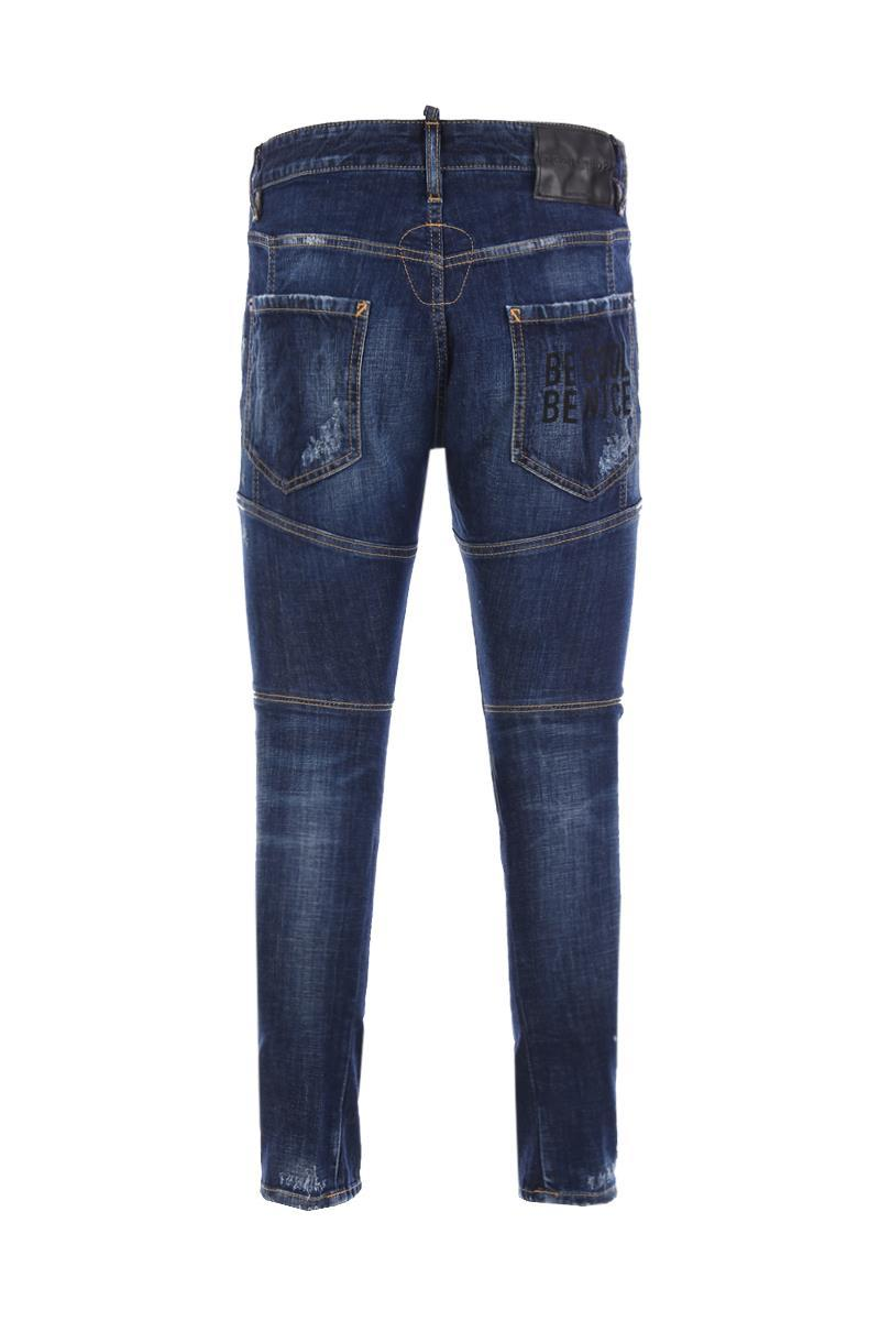 """DSQUARED2 tidy biker jeans """" be cool be nice """""""