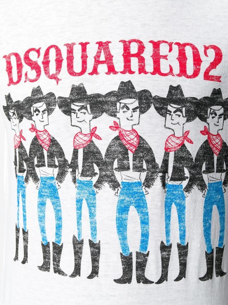 DSQUARED2 Cowboy logo T-shirt