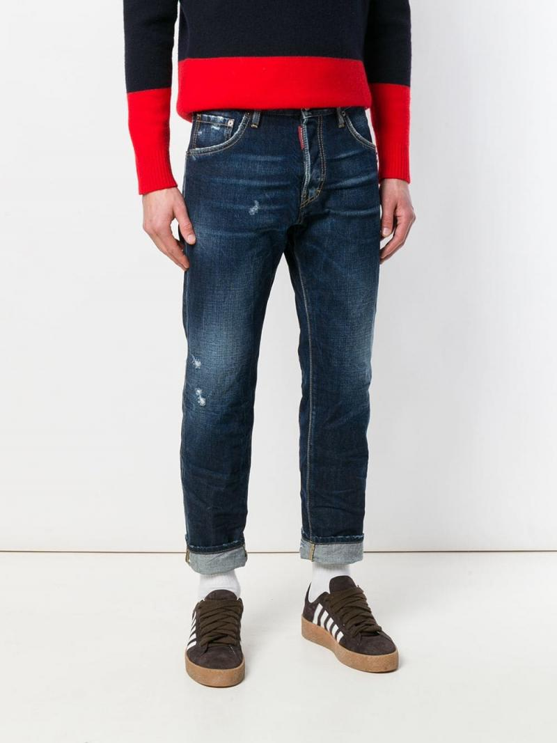 DSQUARED2 Run Dan distressed jeans