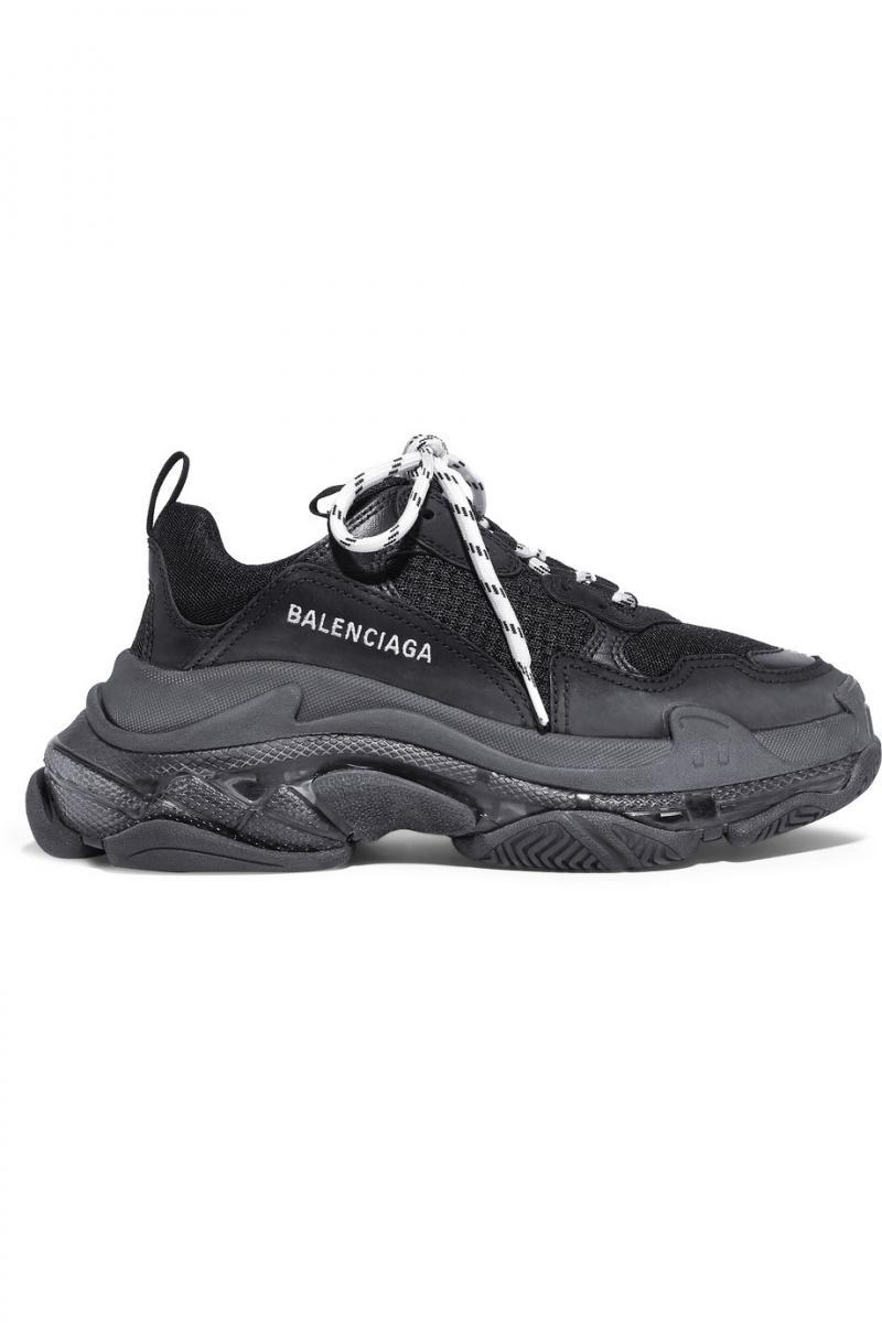 "BALENCIAGA TRIPLE S ""all black"""