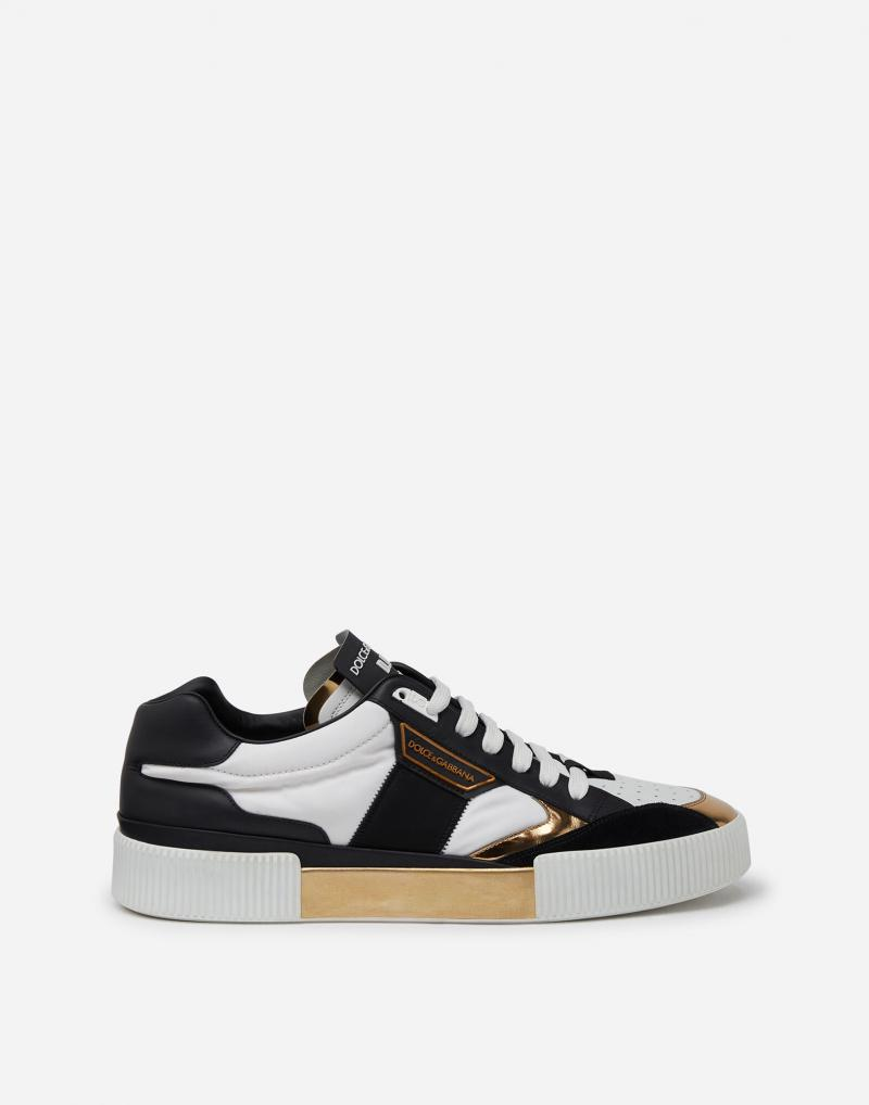 MIAMI SNEAKERS IN NAPPA CALFSKIN AND MIRRORED CALFSKIN