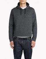 DSQUARED2 HOODED EMBOSSED WOOL BLEND SWEATSHIRT