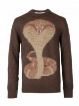 GIVENCHY cobra intarsia sweater