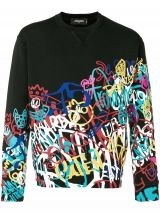 DSQUARED2 printed crew neck sweatshirt